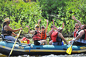 Bucking Rainbow Outfitters crashing Cable Rapid while floating the Upper Colorado River from Rancho Del Rio to Two Bridges on the morning of July 15, 2014.