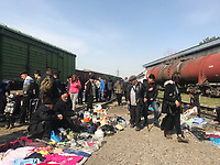Uzbekistan - Tashkent - A flee market located inside a railway deposit where all sorts of good are sold, mostly second hand.
