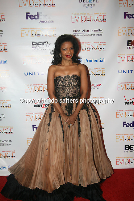 Honorary Chair Pamela Joyner Wearing Zang Toi Attends the 7th Annual Evidence Gala...A Breath of Spring Hosted by Law & Order Actress Tamara Tunie and Jazz Vocalist Gregory Generet Held at The Grand Ballroom at Manhattan Center, NY D. 4/12/2011