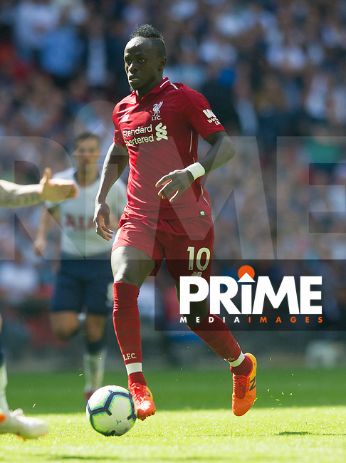 Liverpool's Sadio Mane  during the Premier League match between Tottenham Hotspur and Liverpool at Wembley Stadium, London, England on 15 September 2018. Photo by Andrew Aleksiejczuk / PRiME Media Images.