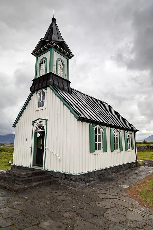 Þingvellir (Thingvellier) Church, Bláskógabyggð, southwestern Iceland