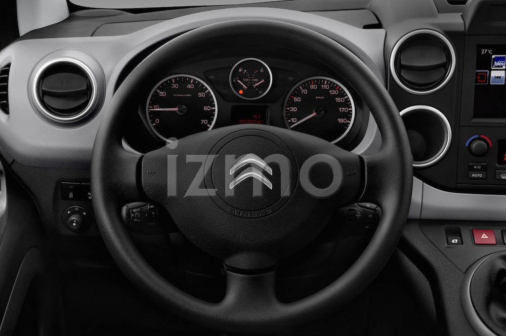 Car pictures of steering wheel view of a 2016 Citroen BERLINGO-MULTISPACE XTR+ 5 Door Mini MPV Steering Wheel