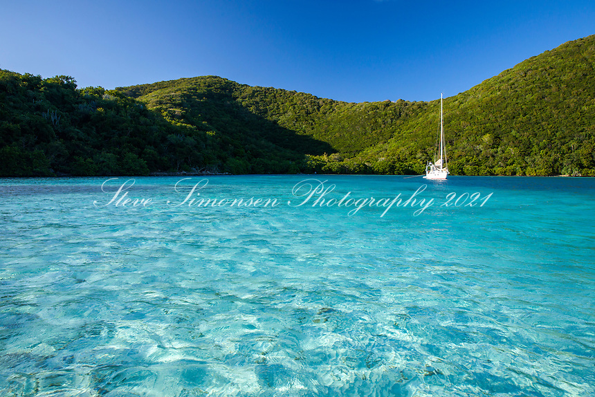 Sailboat in Newfound Bay<br />