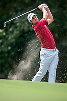 Justin Rose of England in act at the final round of the Hong Kong Open golf tournament in Fanling Golf Club, Hong Kong,  25 Oct., 2015