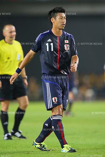 Yohei Toyoda (JPN), <br /> AUGUST 14, 2013 - Football / Soccer : <br /> KIRIN Challenge Cup 2013 match <br /> between Japan 2-4 Uruguay <br /> at Miyagi Stadium, Miyagi, Japan.<br />  (Photo by AFLO SPORT)