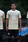 10 September 2016: Wake Forest's Steven Echevarria. The Wake Forest University Demon Deacons hosted the University of Virginia Cavaliers in a 2016 NCAA Division I Men's Soccer match. Wake Forest won the game 1-0 in sudden death overtime.