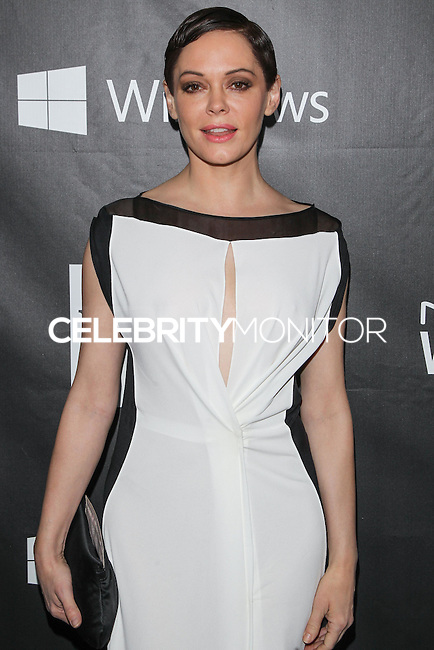 HOLLYWOOD, LOS ANGELES, CA, USA - OCTOBER 29: Rose McGowan arrives at the 2014 amfAR LA Inspiration Gala at Milk Studios on October 29, 2014 in Hollywood, Los Angeles, California, United States. (Photo by Celebrity Monitor)