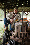 Hough Webster, on his family farm South of Yancyville, NC.