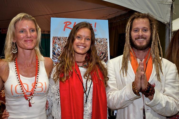 Global Mala Project (GMP) event. Shiva, Radha and Govindas.