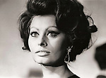 """Sophia Loren being interviewed for her new film """"A Countess From Hong Kong"""" January 1965."""