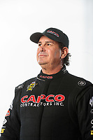 Feb 7, 2019; Pomona, CA, USA; NHRA top fuel driver Billy Torrence poses for a portrait during NHRA Media Day at the NHRA Museum. Mandatory Credit: Mark J. Rebilas-USA TODAY Sports
