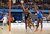 22.01.2015 Silver Ferns Jodi Brown in action during the netball test match between the Silver Ferns and Fiji at the Vodafone Arena in Suva Fiji. Mandatory Photo Credit ©Michael Bradley.