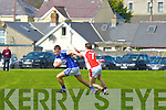 Kerins O'Rahillys John Ferguson gets away from Rathmore Patrick Reen in the Senior County League D1 GAA Football Kerins O'Rahillys against Rathmore at Strand Road on Sunday