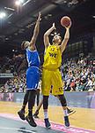 07.10.2018, EWE Arena, Oldenburg, GER, BBL, Pokal, Achtelfinale, EWE Baskets Oldenburg vs Science City Jena,, im Bild<br /> am Ball.....<br /> Marko BACAK (EWE Baskets Oldenburg #13 )<br /> Ikenna IROEGBU ( Science City Jena #1 )<br /> Foto &copy; nordphoto / Rojahn