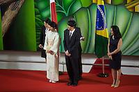 SÃO PAULO, SP, 29.10.2015 - BRASIL-JAPÃO - O Governador Geraldo Alckmin e a primeira-dama Lu Alckmin recebem Altezas Imperiais o Príncipe  Akishino e a Princesa Kiko, do Japão, durante visita ao Palácio dos Bandeirantes na região sul da cidade de São Paulo nesta quinta-feira, 29. (Foto: Adriana Spaca/Brazil Photo Press)