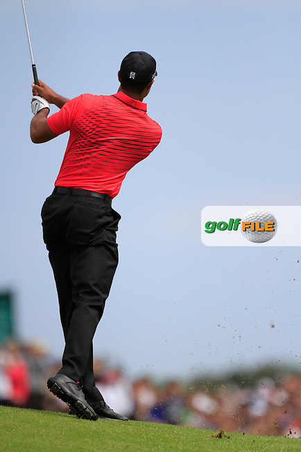 Tiger Woods (USA) on the 2nd during round 4 of THE 141st OPEN CHAMPIONSHIP, Royal Lytham & St Annes GC,Lytham St Annes,Lancashire,England. 22/07/2012.Picture Fran Caffrey www.golffile.ie