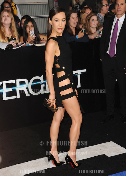 Maggie Q at the Los Angeles premiere of her movie &quot;Divergent&quot; at the Regency Bruin Theatre, Westwood.<br /> March 18, 2014  Los Angeles, CA<br /> Picture: Paul Smith / Featureflash
