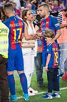 FC Barcelona's defender Jordi Alba with his girlfriend Romarey Ventura after Copa del Rey (King's Cup) Final between Deportivo Alaves and FC Barcelona at Vicente Calderon Stadium in Madrid, May 27, 2017. Spain.<br /> (ALTERPHOTOS/BorjaB.Hojas) /NortePhoto.com