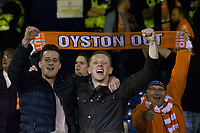 Blackpool fans celebrate after the match<br /> <br /> Photographer Craig Mercer/CameraSport<br /> <br /> The EFL Sky Bet League Two Play-Off Semi Final Second Leg - Luton Town v Blackpool - Thursday 18th May 2017 - Kenilworth Road - Luton<br /> <br /> World Copyright &copy; 2017 CameraSport. All rights reserved. 43 Linden Ave. Countesthorpe. Leicester. England. LE8 5PG - Tel: +44 (0) 116 277 4147 - admin@camerasport.com - www.camerasport.com