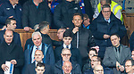 Jonatan Johansson watching from the directors box instead of the dugout