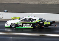 Feb. 16, 2013; Pomona, CA, USA; NHRA pro stock driver Deric Kramer during qualifying for the Winternationals at Auto Club Raceway at Pomona.. Mandatory Credit: Mark J. Rebilas-