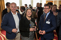 Pictured from left are Ian Roberts of SLR Consulting, Deborah Lbbate of Deborah Labatte Business Solutions