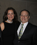 "As The World Turns Margaret Colin poses with husband Guiding Light's Justin Deas at after party as she stars in ""Arcadia"" - Broadway Opening Night on March 17, 2011 at the Ethel Barrymore Theatre, New York City, New York.  Arrivals, Curtain Call and Party after at Gotham Hall. (Photo by Sue Coflin/Max Photos)"