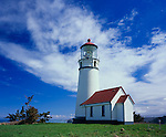 Curry County, OR      <br /> Cape Blanco Lighthouse (1870) stands at 59ft on the western most point of the continental United States