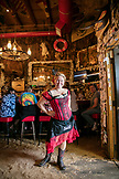 USA, Alaska, Juneau, Giselle, a waitresses at the Red Dog Saloon in downtown Juneau