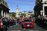 The start of the 111th edition of Il Lombardia 2017 &quot; The Race of the Falling Leaves&quot; the final monument of the season, running 247km from Bergamo to Como, Italy. 7th October 2017.<br /> Picture: LaPresse/Fabio Ferrari | Cyclefile<br /> <br /> <br /> All photos usage must carry mandatory copyright credit (&copy; Cyclefile | LaPresse/Fabio Ferrari)