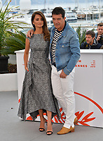 """CANNES, FRANCE. May 18, 2019: Penelope Cruz & Antonio Banderas at the photocall for the """"Pain and Glory"""" at the 72nd Festival de Cannes.<br /> Picture: Paul Smith / Featureflash"""