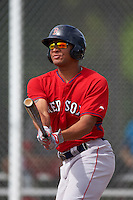 Boston Red Sox Tyler Hill (46) during an instructional league game against the Minnesota Twins on September 26, 2015 at CenturyLink Sports Complex in Fort Myers, Florida.  (Mike Janes/Four Seam Images)