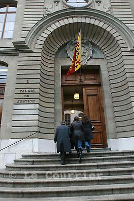 Genève, le 30.01.2008.Palais de justice à Genève..© Le Courrier / J.-P. Di Silvestro