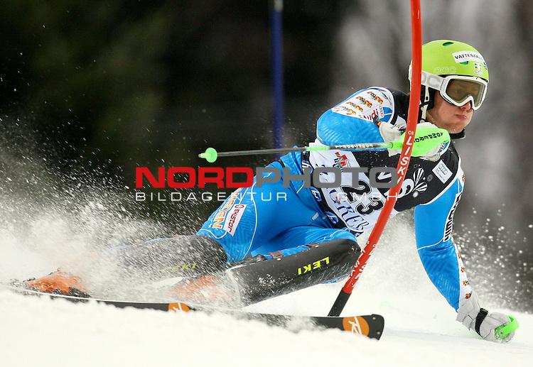 06.01.2011., Sljeme, Zagreb, Croatia - FIS Ski World Cup, Snow Queen Trophy, men slalom race, 1st run.<br /> Axel Baeck<br />                                                                                                    Foto:   nph / PIXSELL
