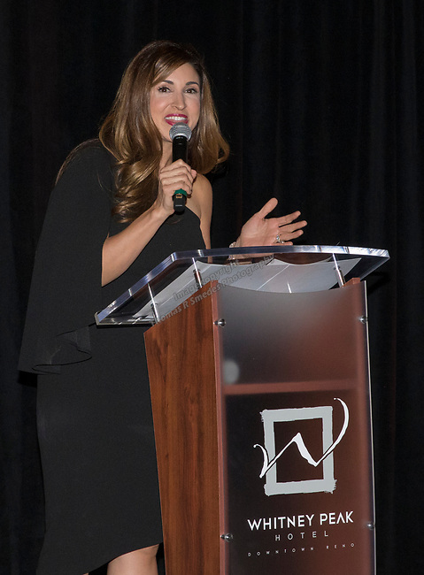 Kristen Remington during the Step 2 Jingle & Mingle held at the Whitney Peak Hotel on Friday night, December 1, 2017.