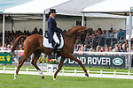 Jeanette Brakewell during day 2 of the dressage phase at the 2012 Land Rover Burghley Horse Trials in Stamford, Lincolnshire,UK.