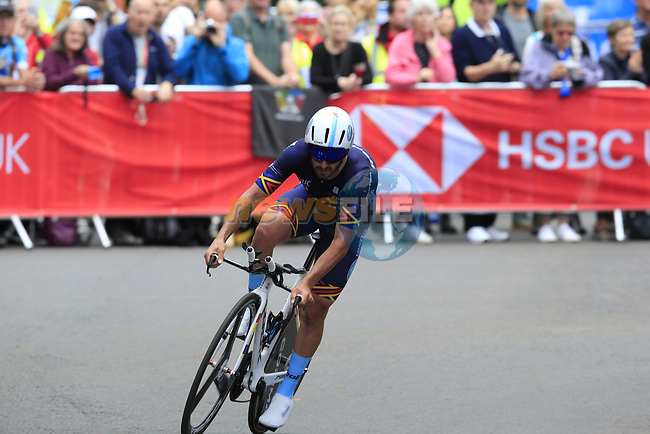 Eduard-Michael Grosu (ROM) in action during the Men Elite Individual Time Trial of the UCI World Championships 2019 running 54km from Northallerton to Harrogate, England. 25th September 2019.<br /> Picture: Eoin Clarke | Cyclefile<br /> <br /> All photos usage must carry mandatory copyright credit (© Cyclefile | Eoin Clarke)
