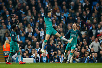 Son Heung-Min of Tottenham Hotspur celebrates after scoring his side's second goal to make the score 1-2 during the UEFA Champions League Quarter Final second leg match between Manchester City and Tottenham Hotspur at the Etihad Stadium on April 17th 2019 in Manchester, England. (Photo by Daniel Chesterton/phcimages.com)<br /> Foto PHC/Insidefoto <br /> ITALY ONLY