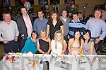 Having a great time at the Spar Express, Castlemaine Road, Xmas party  held in The Ballyroe Heights Hotel on Saturday night were seated l/r Catherine Casey, Michelle Lynch, Rachel Lynch, Theresa Griffin and Emer Divane, standing l/r Norman Foley, Gerry O'Riordan, John Nix, Luda Belyakov, Martin Nix, Danny Casey and Shane Ronan.