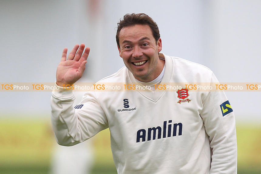 A smile and a wave from Graham Napier of Essex - Essex CCC vs Kent CCC - Pre-Season Friendly Cricket Match at the Essex County Ground, Chelmsford - 04/04/14 - MANDATORY CREDIT: Gavin Ellis/TGSPHOTO - Self billing applies where appropriate - 0845 094 6026 - contact@tgsphoto.co.uk - NO UNPAID USE