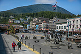 USA, Alaska, Ketchikan, downtown at Port