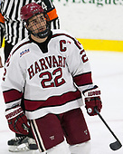 Devin Tringale (Harvard - 22) - The Harvard University Crimson defeated the US National Team Development Program's Under-18 team 5-2 on Saturday, October 8, 2016, at the Bright-Landry Hockey Center in Boston, Massachusetts.