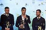 Cristiano Ronaldo of Juventus pictured after winning The player of the Year award for 2019 and a best Striker award at the The Italian Footballers Association Grand Gala of Football at the Megawatt Court, Milan. Picture date: 2nd December 2019. Picture credit should read: Jonathan Moscrop/Sportimage
