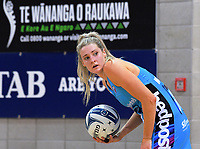 Steel goalkeep Jane Watson during the ANZ Premiership netball match between the Central Pulse and Northern Stars at Te Rauparaha Arena in Wellington, New Zealand on Wednesday, 24 May 2017. Photo: Dave Lintott / lintottphoto.co.nz