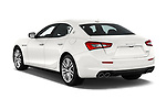 Car pictures of rear three quarter view of a 2018 Maserati Ghibli Base 4 Door Sedan angular rear