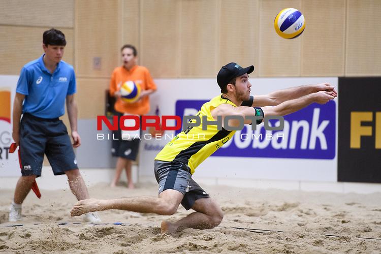 05.01.2019, Den Haag, Sportcampus Zuiderpark<br />Beachvolleyball, FIVB World Tour, 2019 DELA Beach Open<br /><br />Abwehr Clemens Wickler (#2)<br /><br />  Foto &copy; nordphoto / Kurth