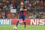 17.09.2014 Barcelona, Spain. Champions League Groups. Picture show Sergi Roberto in action during game beteween FC Barcelona against Apoel at Camp Nou
