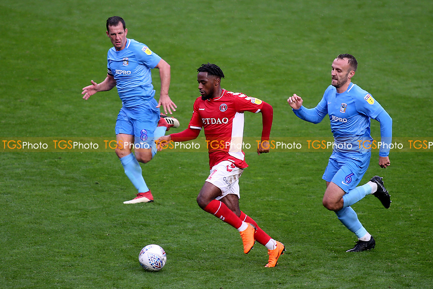 Tariq Fosu of Charlton Athletic in action during Charlton Athletic vs Coventry City, Sky Bet EFL League 1 Football at The Valley on 6th October 2018