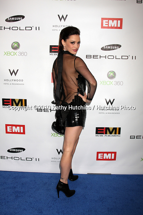 Jessica Sutta.arriving at the EMI Post Grammy Party 2010.W Hotel Hollwood.Los Angeles, CA.January 31, 2010.©2010 Kathy Hutchins / Hutchins Photo....