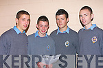 DELIGHTED: Delighted with their Junior Cert results students from the CBS The Green on Wednesday. L-r: Andrew Thompson,Maurice Kelter,Ciara?n Higgins and Brian Ryal (Tralee).